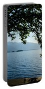 Sunshine Over An Alpine Lake Portable Battery Charger