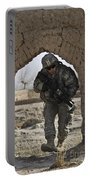 U.s. Army Soldier Provides Security Portable Battery Charger