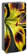 Asiatic Lily Named Black-eyed Cindy Portable Battery Charger