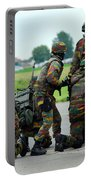 Belgian Paracommandos Entering Portable Battery Charger by Luc De Jaeger