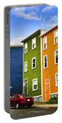 Colorful Houses In St. John's Newfoundland Portable Battery Charger