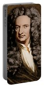 Isaac Newton, English Polymath Portable Battery Charger by Science Source