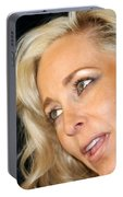 Blond Woman Portable Battery Charger