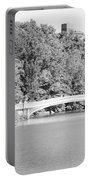 Bow Bridge In Black And White Portable Battery Charger