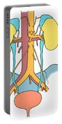 Illustration Of Urinary System Portable Battery Charger