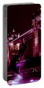 Tower Bridge And The Girl And Dolphin Statue  Portable Battery Charger