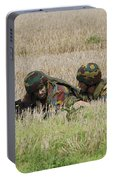 Belgian Paratroopers On Guard Portable Battery Charger