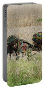 Belgian Paratroopers On Guard Portable Battery Charger by Luc De Jaeger