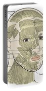 Illustration Of Facial Muscles Portable Battery Charger
