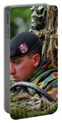 Members Of A Recce Or Scout Team Portable Battery Charger by Luc De Jaeger