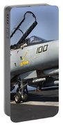 An F-14d Tomcat On The Flight Deck Portable Battery Charger