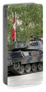 The Leopard 1a5 Of The Belgian Army Portable Battery Charger by Luc De Jaeger