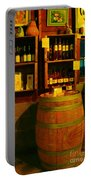A Barrel And Wine Portable Battery Charger by Jeff Swan