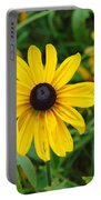 A Beautiful Close Up Of A Sunflower Portable Battery Charger