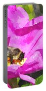 A Bee In A Rose Brpwc Portable Battery Charger