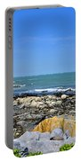 A Blue Skerries Sky Portable Battery Charger