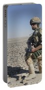 A British Army Soldier On A Foot Patrol Portable Battery Charger