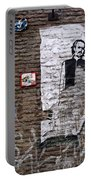 A Character On The Wall Portable Battery Charger by RicardMN Photography