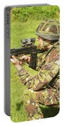A Coldstream Guard Training In Scotland Portable Battery Charger