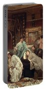 A Collector Of Pictures At The Time Of Augustus Portable Battery Charger by Sir Lawrence Alma-Tadema