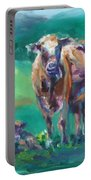 A Cow And Her Calf Portable Battery Charger