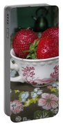 A Cup Of Strawberries Portable Battery Charger