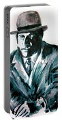 A Dapper Brit-portrait Of Ron Moody Portable Battery Charger