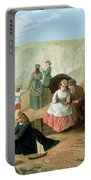 A Day At The Seaside Portable Battery Charger by William Scott