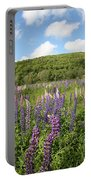 A Field Of Lupines Portable Battery Charger