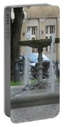 A Fountain In Silute Lithuania Portable Battery Charger