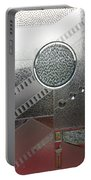 A Frosted Glass Window With An Interesting Pattern Portable Battery Charger