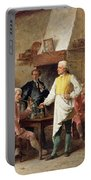 A Gentleman's Debate Portable Battery Charger by Benjamin Eugene Fichel