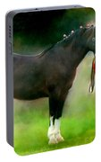 A Girl And Her Horse Portable Battery Charger