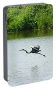 A Great Blue Heron Landing Portable Battery Charger