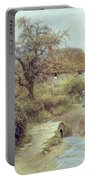 A Hill Farm Symondsbury Dorset Portable Battery Charger by Helen Allingham