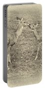 A Kiss For Mom Sepia Portable Battery Charger