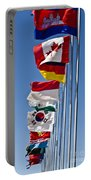 A Line Of Flags Represent The Countries Portable Battery Charger