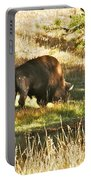 A Lone Bison In Yellowstone 9467 Portable Battery Charger