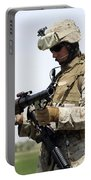 A Marine Looks At A Brand New Portable Battery Charger