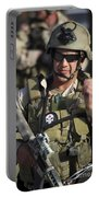 A Military Reserve Navy Seal Gives Portable Battery Charger