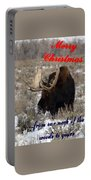 A Moose Christmas Wish Portable Battery Charger