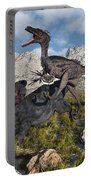 A Pack Of Velociraptors Attack A Lone Portable Battery Charger