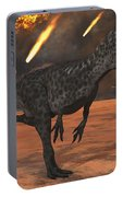 A Pair Of Allosaurus Dinosaurs Running Portable Battery Charger