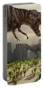 A Pair Of Tyrannosaurus Rex Explore Portable Battery Charger