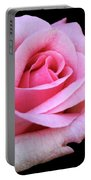 A Pink Rose Portable Battery Charger