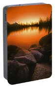 A Pond At Sunset, British Columbia Portable Battery Charger