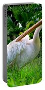 A Preening Stork Portable Battery Charger