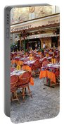 A Restaurant In Sarlat France Portable Battery Charger