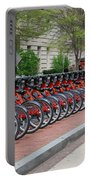 A Row Of Red Bikes Portable Battery Charger