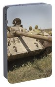 A Russian T-55 Main Battle Tank Portable Battery Charger